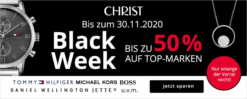 BLACK WEEK bei CHRIST - Bis zu 50% Rabatt auf Uhren- und Schmuck-Highlights von Top-Marken! | Gutscheincode oder Rabatt sichern!